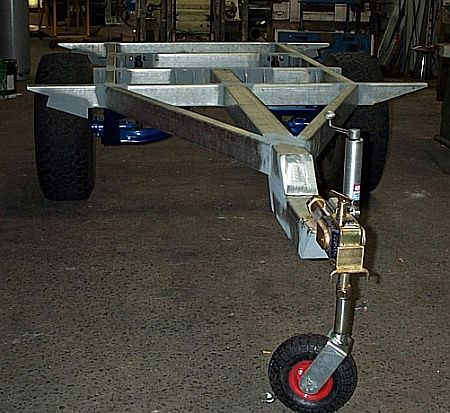 Lastest Trailer Frame Buildup Progressing  Dinoot Jeep Amp M416 Style Trailers