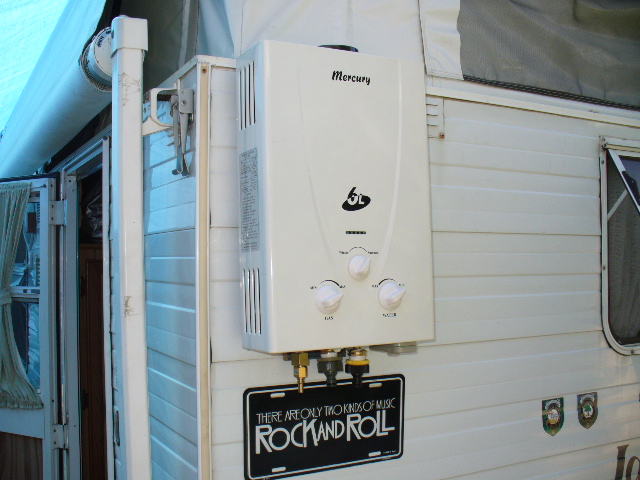 Caravan instant hot water systems