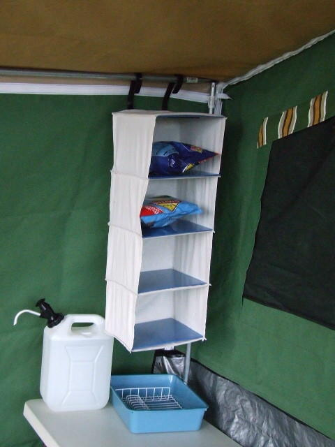 Camper Storage Shelf