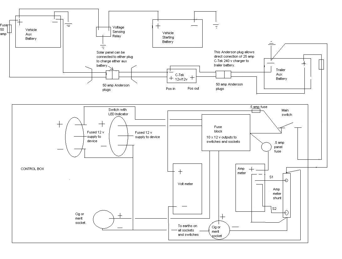 Volt Amp Meter Wiring Diagram For Led 12volt Power The Cub Supamatic Escape Camper Trailer 80 Light Hitch Detail