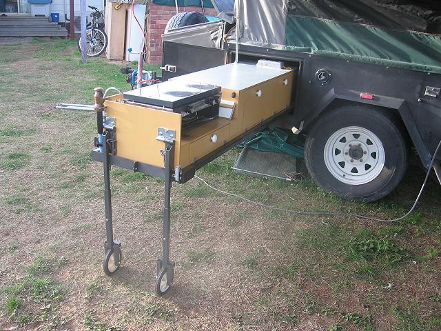 Camp Kitchens For Camper Trailers camper trailer kitchen support