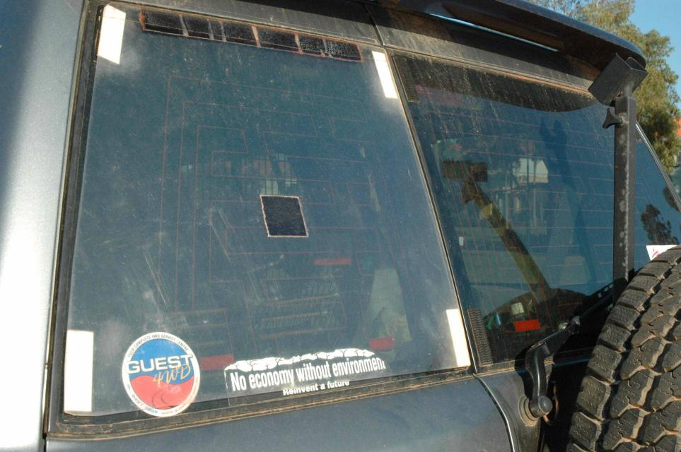 Tractor Rear Window Protection : Rear window protector