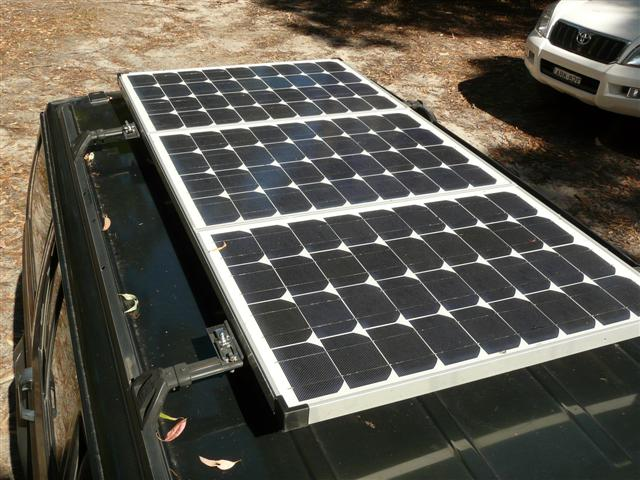 Vehicle Mounted Solar Panel On The Roof