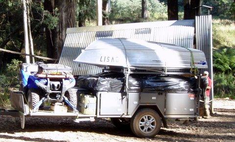Original Off Road Tandem Axle Pop Top Toy Hauler Quad Bike Carrier Caravan